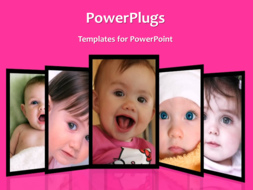 PowerPoint Template - Loveable kids background